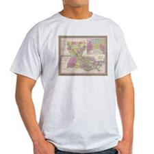 Vintage Map of Louisiana (1853) T-Shirt