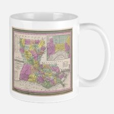 Vintage Map of Louisiana (1853) Mugs