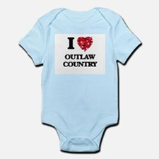 I Love My OUTLAW COUNTRY Body Suit