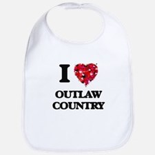 I Love My OUTLAW COUNTRY Bib