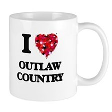 I Love My OUTLAW COUNTRY Mugs
