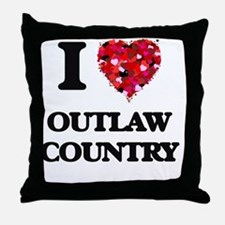 I Love My OUTLAW COUNTRY Throw Pillow