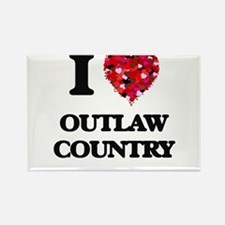 I Love My OUTLAW COUNTRY Magnets