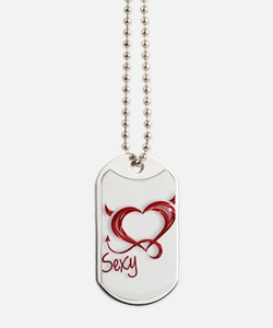 Sexy Devil Heart Dog Tags