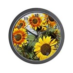 Sunflower Cluster Wall Clock