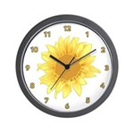 Elegant Sunflower Wall Clock