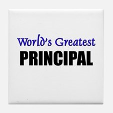 Worlds Greatest PRINCIPAL Tile Coaster