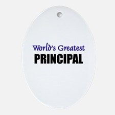 Worlds Greatest PRINCIPAL Oval Ornament