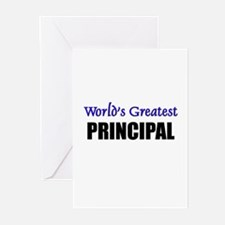 Worlds Greatest PRINCIPAL Greeting Cards (Pk of 10