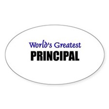 Worlds Greatest PRINCIPAL Oval Decal