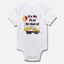 Dump Truck 1st Birthday Infant Bodysuit