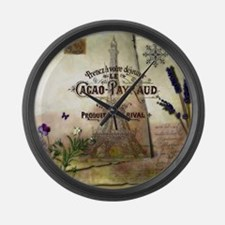French collage Large Wall Clock