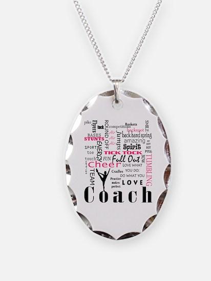 Cute Cheerleader coach Necklace Oval Charm