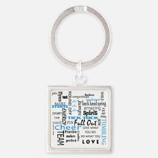 Cute Flyer Square Keychain