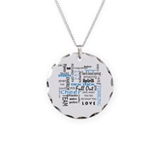 Cool Cheerleader coach Necklace Circle Charm