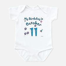 October 11th Birthday Infant Bodysuit