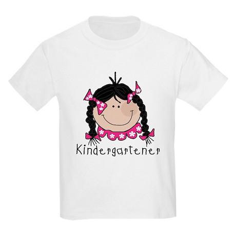 Kindergarten Girl (Black) Kids Light T-Shirt