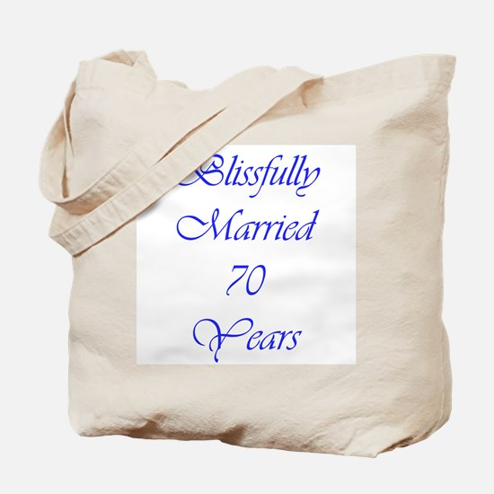 Blissfully married 70 Tote Bag