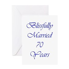 Blissfully married 70 Greeting Card