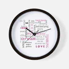 Cute I love gymnastics Wall Clock