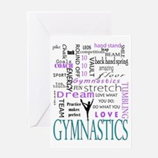 Cute Gymnastics Greeting Card