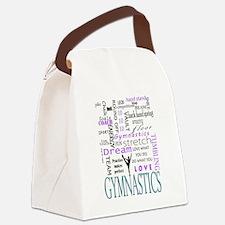 Cute Gymnastics Canvas Lunch Bag