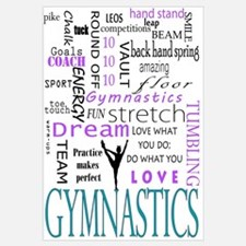 Cute Gymnastics Wall Art