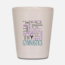 Cute Gymnastics Shot Glass