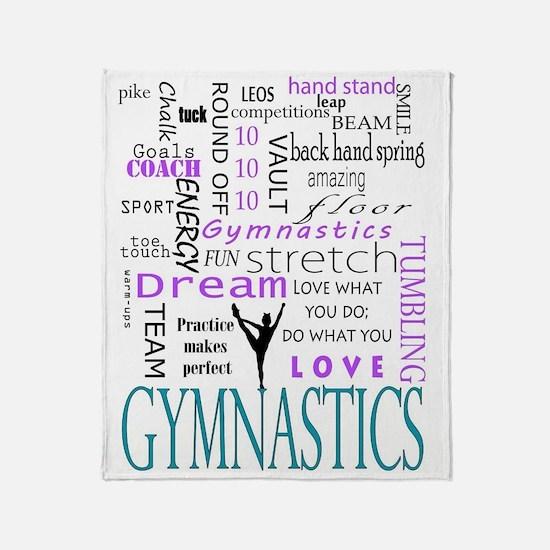 Cute Gymnastics Throw Blanket