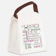 Cute Gymnast Canvas Lunch Bag