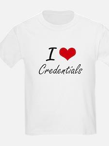 I love Credentials T-Shirt