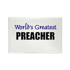 Worlds Greatest PREACHER Rectangle Magnet