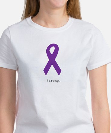 Strong. Purple Ribbon T-Shirt