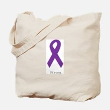 Strong. Purple Ribbon Tote Bag