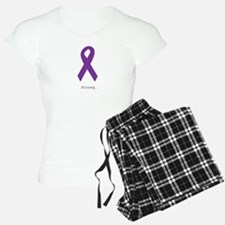 Strong. Purple Ribbon pajamas