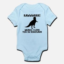 Rawwr Means I Love You In Dinosaur Body Suit