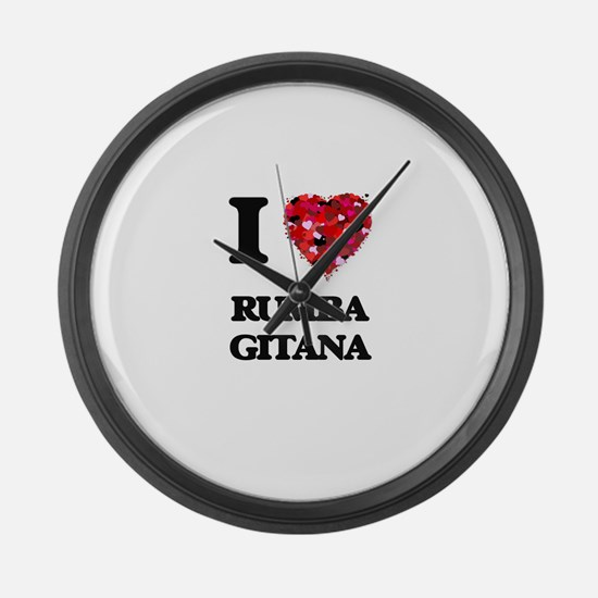 I Love My RUMBA GITANA Large Wall Clock