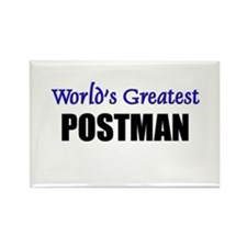 Worlds Greatest POSTMAN Rectangle Magnet
