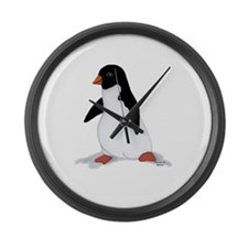 PenguinTee.jpg Large Wall Clock