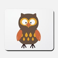 Brown Pumpkin Owl Mousepad