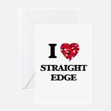 I Love My STRAIGHT EDGE Greeting Cards