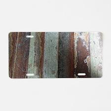 Vintage Wooden Planks Aluminum License Plate
