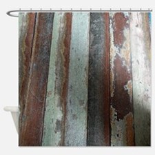 Vintage Wooden Planks Shower Curtain