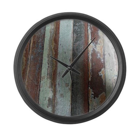 vintage wooden planks large wall clock by hopeshappyhome