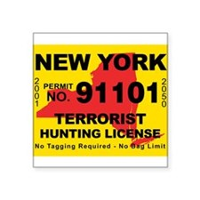 "Funny Terrorist hunting Square Sticker 3"" x 3"""