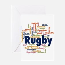 Unique Rugger Greeting Card
