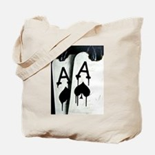 HOT BULLETS POKER ACES ROCKETS Tote Bag