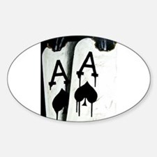 HOT BULLETS POKER ACES ROCKETS Oval Decal