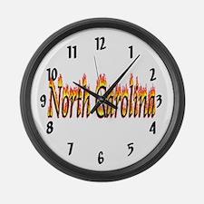 North Carolina Flame Large Wall Clock