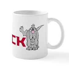Dogs peeing on Vick Mug